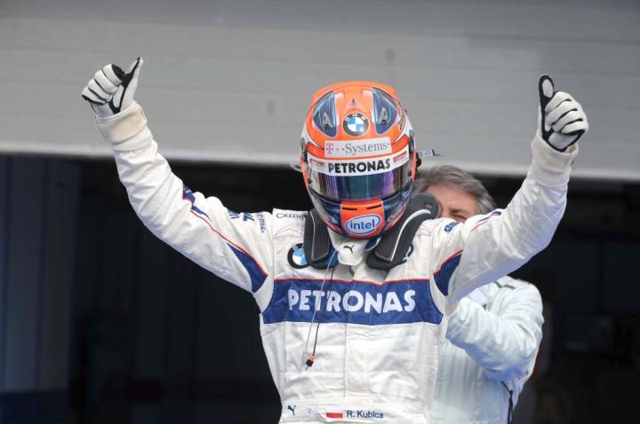 Robert Kubica po kwalifikacjach do GP Bahrajnu 2008