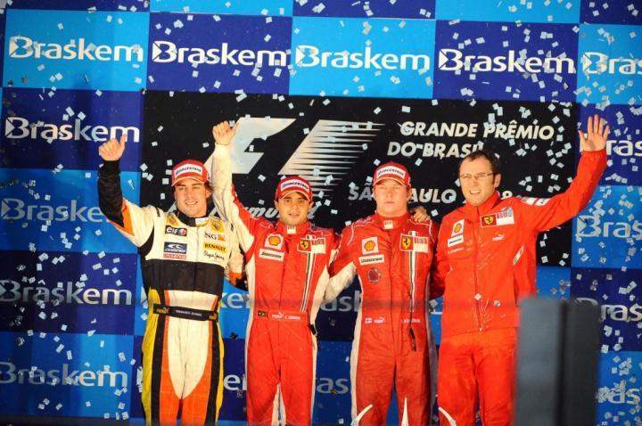 Podium GP Brazylii 2008