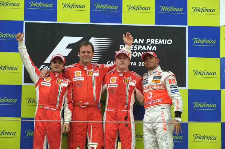Podium GP Hiszpanii 2008
