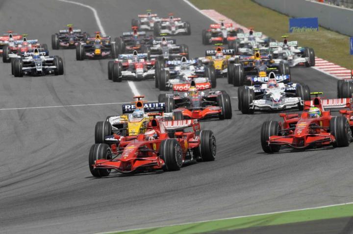 Start GP Hiszpanii 2008