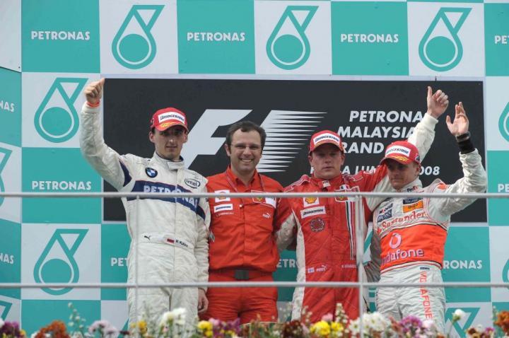 Podium GP Malezji 2008