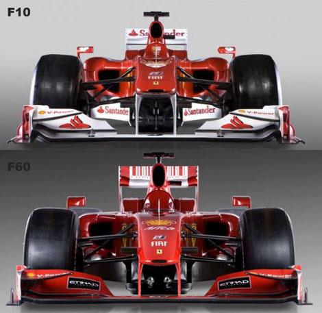 Porównanie Ferrari F10 i F60
