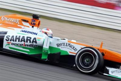 Słabsza forma Force India