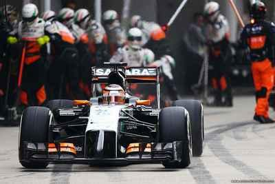 Force India walczy z ogumieniem