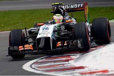 Słabsze tempo Force India
