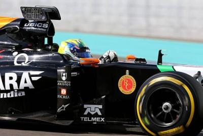 Force India testuje