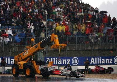 Lewis Hamilton podczas GP Europy 2007