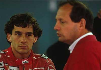 Ayrton Senna i Ron Dennis