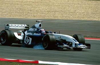 Hamowanie bolidu F1